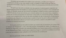 Landaluce reclama a Diputación 'inversiones reales para Algeciras'