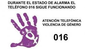 El 016 es el teléfono de atención para víctimas de violencia de género