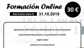 El Ayuntamiento ofrece cursos online para la inserción laboral