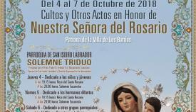 Imagen parcial del cartel con los actos en honor de la patrona