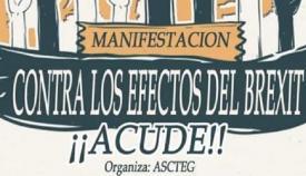 Ascteg convoca la manifestación contra los efectos del Brexit