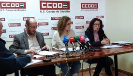 Nuria López y Manuel Triano, durante la rueda de prensa de hoy. Foto NG