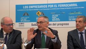 Josep Vicent Boira i Maiques, junto a Javier Sánchez Rojas y José Medina