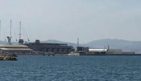 La central eléctrica de Gibraltar, hoy sin nube de nitrógeno