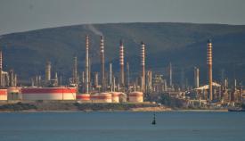 Imagen de la refinería de Cepsa en el término municipal de San Roque