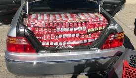 Los maleteros de los tres coches estaban cargados de tabaco