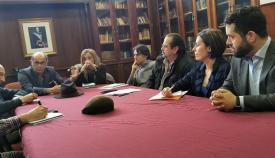 Dirigentes del Grupo Transfronterizos y de Ciudadanos, reunidos hoy