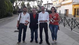 Candidatos de Ciudadanos en plena campaña