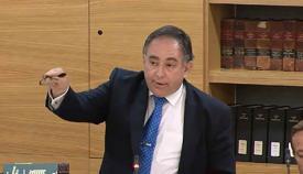 Roy Clinton (GSD), ayer en el Parlamento de Gibraltar