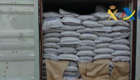 Imagen del contenedor donde se ocultaba la droga