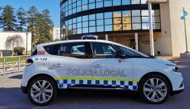 Un vehículo de la Policía Local de La Línea