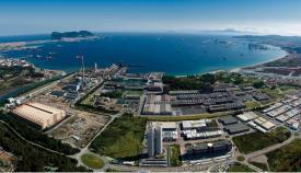 Una vista genérica de la Bahía de Algeciras tomada desde Palmones