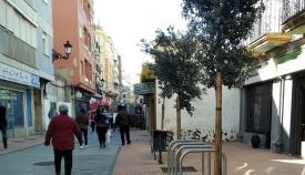Una zona comercial del centro de La Línea. Foto: NG