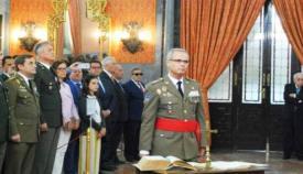 El general de división Escámez Fernández, en la toma de posesión de su anterior destino. Foto MINISDEF