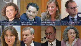 Parte del comité de los empresarios de la provincia de Cádiz