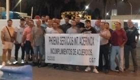 Imagen de archivo de una protesta de los trabajadores de Phoenix