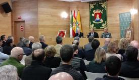 Imagen de la conferencia del coronel Nuñez