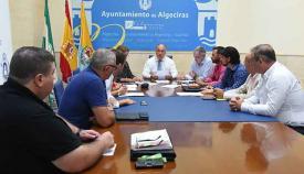 El alcalde, José Ignacio Landaluce, en el consejo de ALGESA
