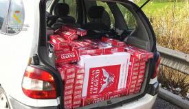 Imagen de archivo de un contrabando de tabaco interceptado por la Guardia Civil