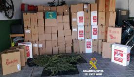 Parte del material incautado por la Guardia Civil en San Roque