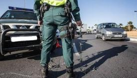 Control en carretera de la Guardia Civil en una imagen de archivo