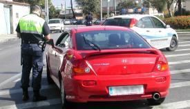 Imagen de archivo de un control de la Policía Local de La Línea