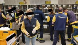 Empleados de Correos, en una imagen difundida por el sindicato CGT