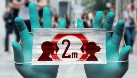 Mantener la distancia de seguridad entre personas ayuda a evitar contagios