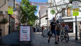 El Gobierno reclama el distanciamiento social en la calle. Foto Sergio Rodríguez