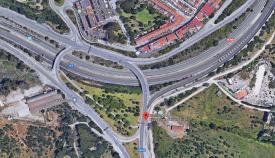 El cruce del Toril, en San Roque, resulta muy peligroso para el tráfico