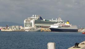 Cruceros en Gibraltar, en una imagen antes del confinamiento por la epidemia. Foto NG