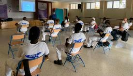 Los alumnos en el curso de formación