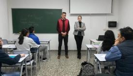 Inauguración del aula de idiomas en la UNED