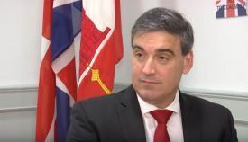 Daniel Feetham, líder del GSD, principal partido de la oposición en Gibraltar