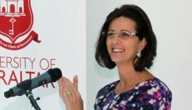 Daniella Tilbury es la rectora de la Universidad de Gibraltar