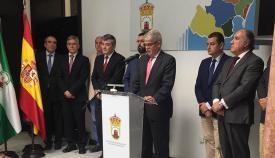 El ministro Alfonso Dastis en la Mancomunidad del Campo de Gibraltar
