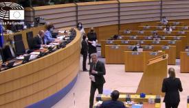 Un momento del debate parlamentario. Foto NG
