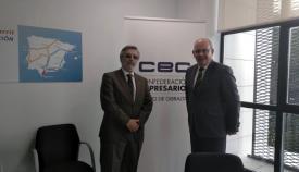 Agustín Núñez y Javier Sánchez Rojas, en la sede de los empresarios