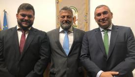 Alberto Cremades, en el centro, es el delegado territorial de Economía