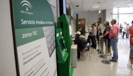 Imagen de archivo de una oficina de empleo en Andalucía