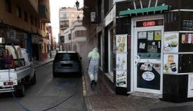 Una céntrica calle de La Línea, esta mañana
