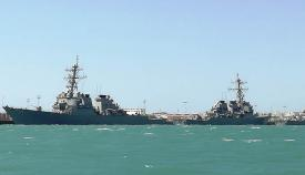 Destructores de la US Navy, atracados en Rota. Foto LR