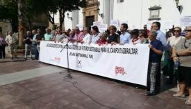 Imagen de la concentración celebrada esta mañana en Algeciras