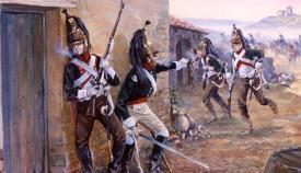 Escena de la ocupación de un pueblo por dragones franceses (Mark Churms)