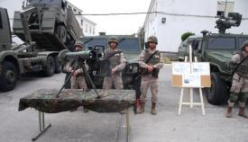 Exposición estática de una unidad de la Comandancia General de Ceuta. Foto LR