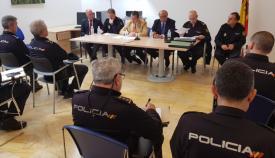 Imagen de la reunión mantenida en la comisaría de Algeciras