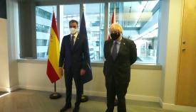 Sánchez y Johnson en su encuentro. Foto Twt