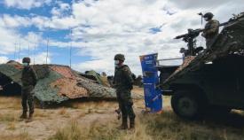 Elementos de artillería antiaérea del Ejército de Tierra que se integran en el ejercicio 'Eagle Eye 20-03'. Foto EMAD