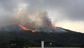 Declarado un incendio forestal en el paraje de El Cuartón en Tarifa