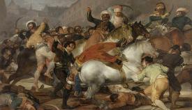 """El célebre cuadro de Goya """"El dos de mayo en Madrid"""""""